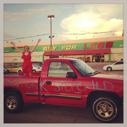 Art Car, Minna Biggs, Oklahoma, Oklahoma City, Buy for Less, Chevy Silverado