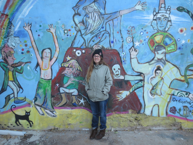 Minna Biggs, Bisbee ARizona, HonkyTonk Stepchild, mural, fiddle
