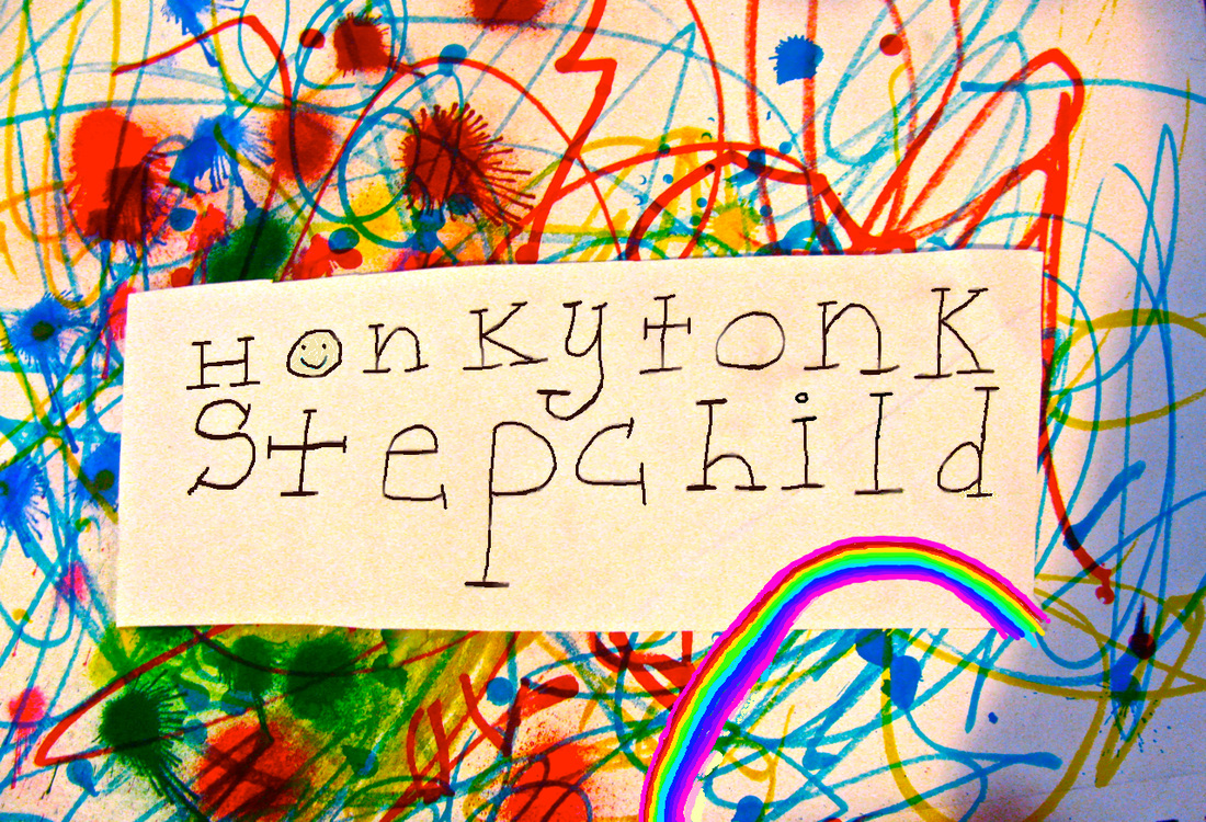 Honkytonk Stepchild, concert poster, August Milton, Minna Biggs, Casey Friedman, Acoustic Oklahoma, fiddle, rainbow explosion